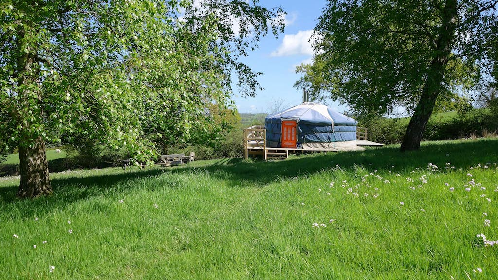 Glamping with the family in Oak Yurt