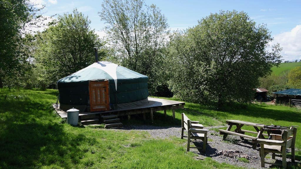 Romantic glamping breaks in Wilow Yurt