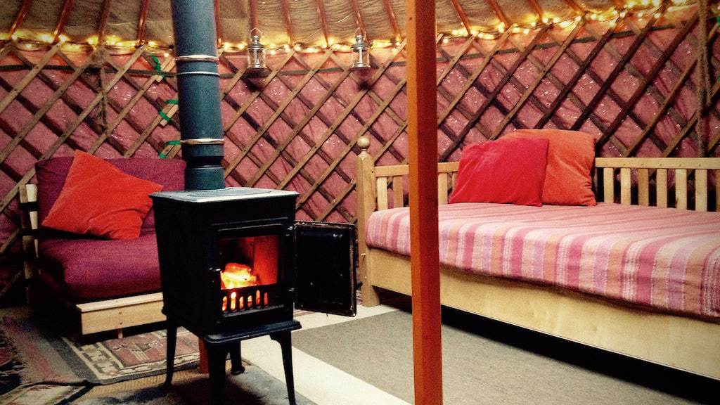 Inside Willow Yurt is the perfect yurt for couples